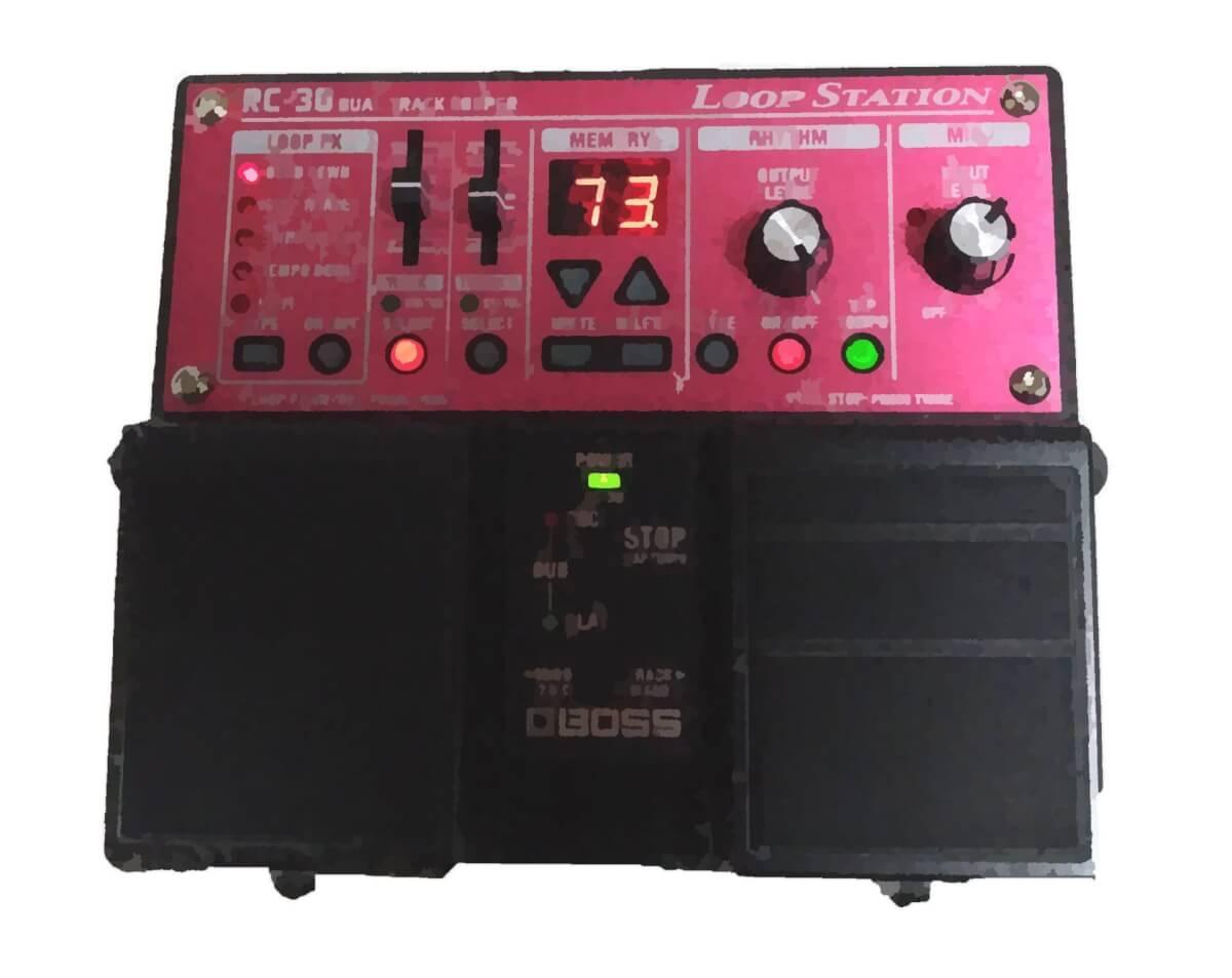 BOSSループステーションRC-30で作曲?意外とやらない便利な使い方