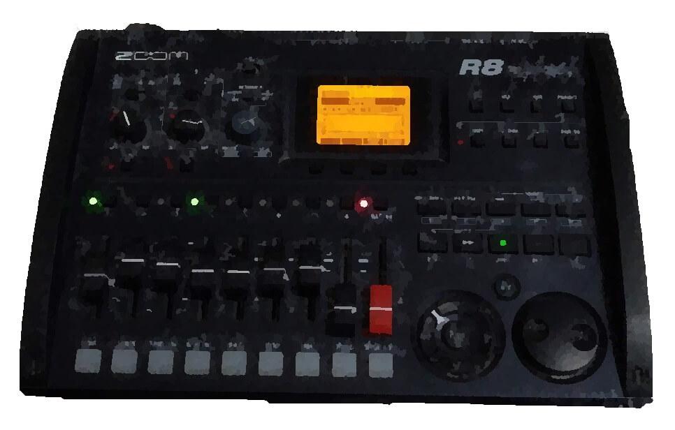 ZOOM R8 のMTRの紹介!ギターやマイクでレコーディングできます
