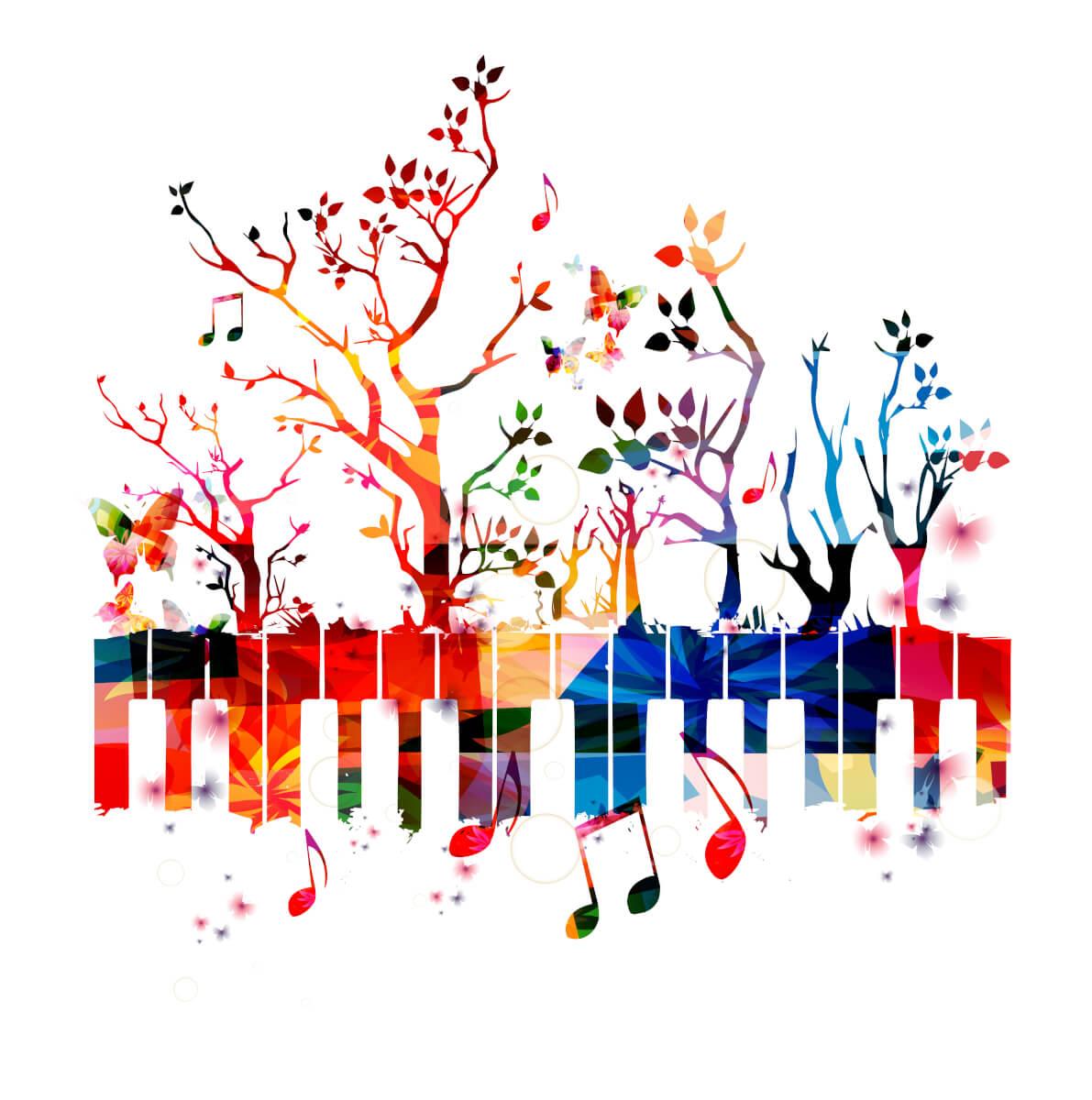 音楽の才能が開花している様子