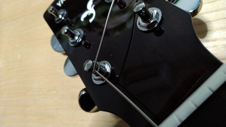 弦の固定の仕方の画像