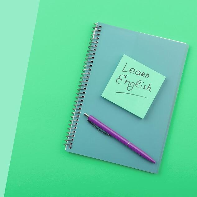 英語のノートの写真