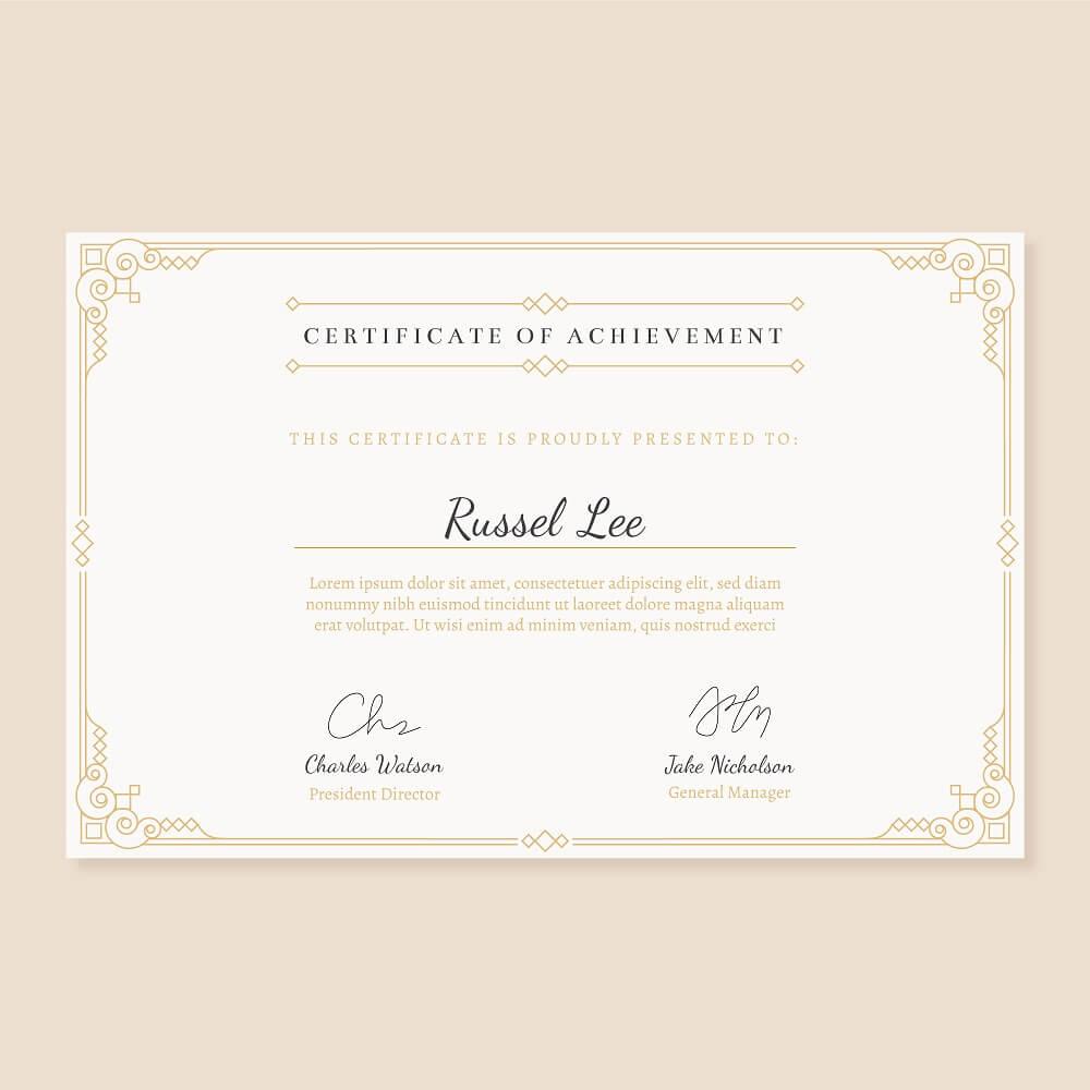 資格の証明書の写真