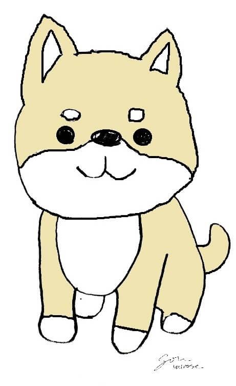 作曲家の颯 Souの相方の柴犬の花子の画像