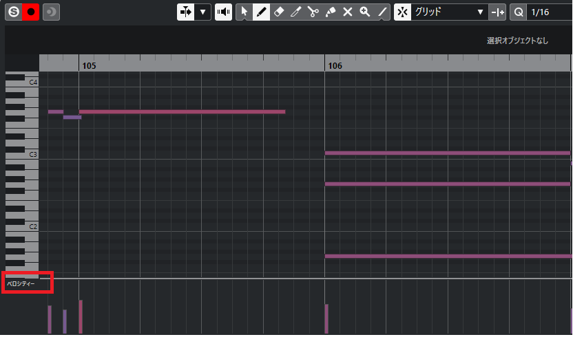 Cubaseでmidiデータをフェードアウトする方法。