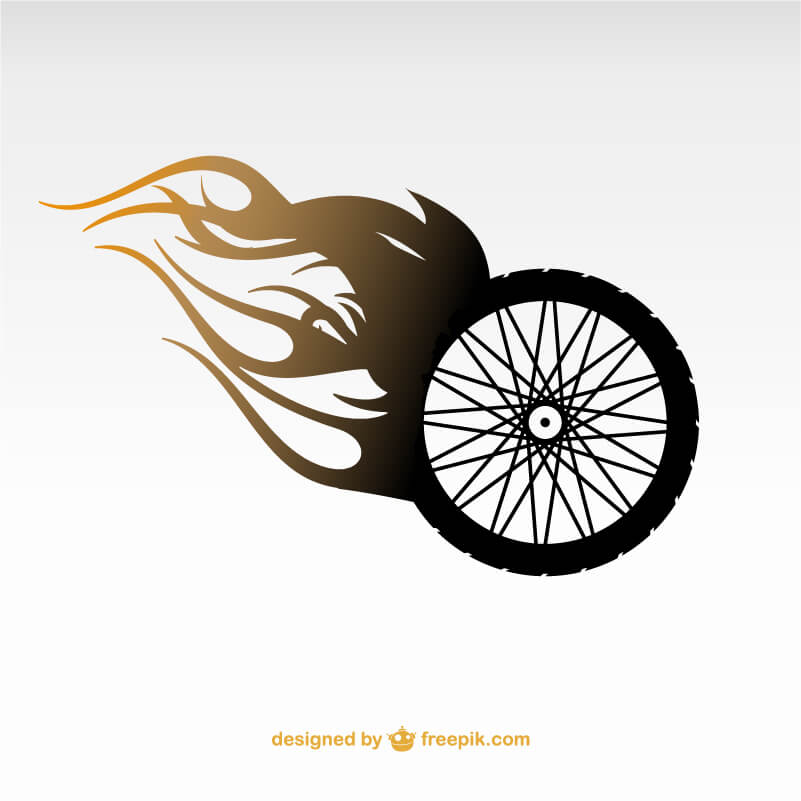 バイクの車輪のイラスト