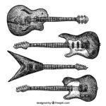 エレキギターのイラスト。
