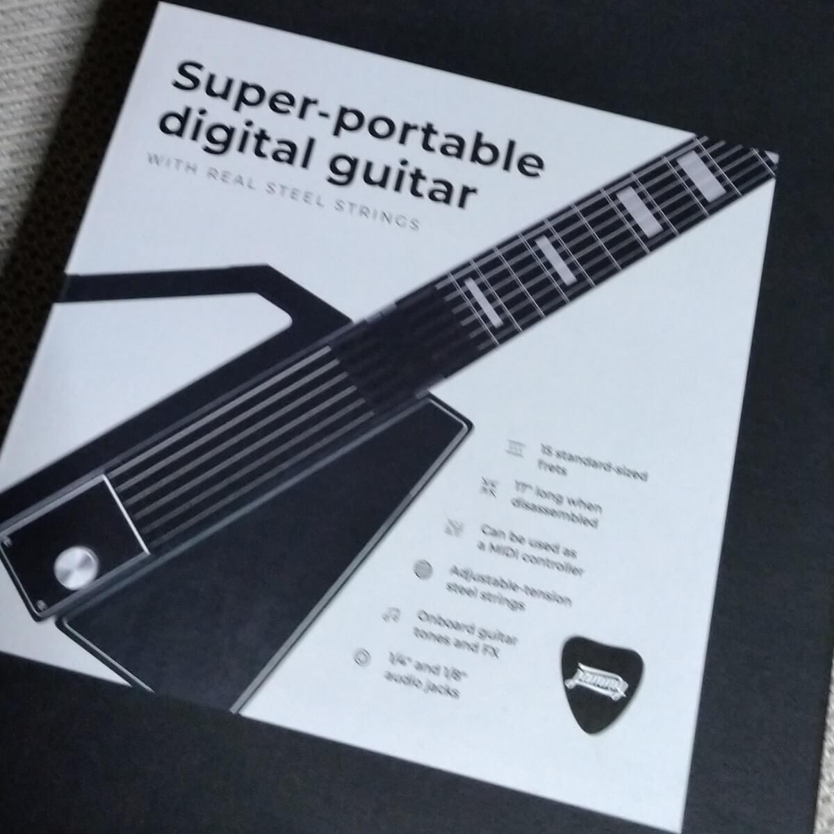 Jammyギターの箱の写真。