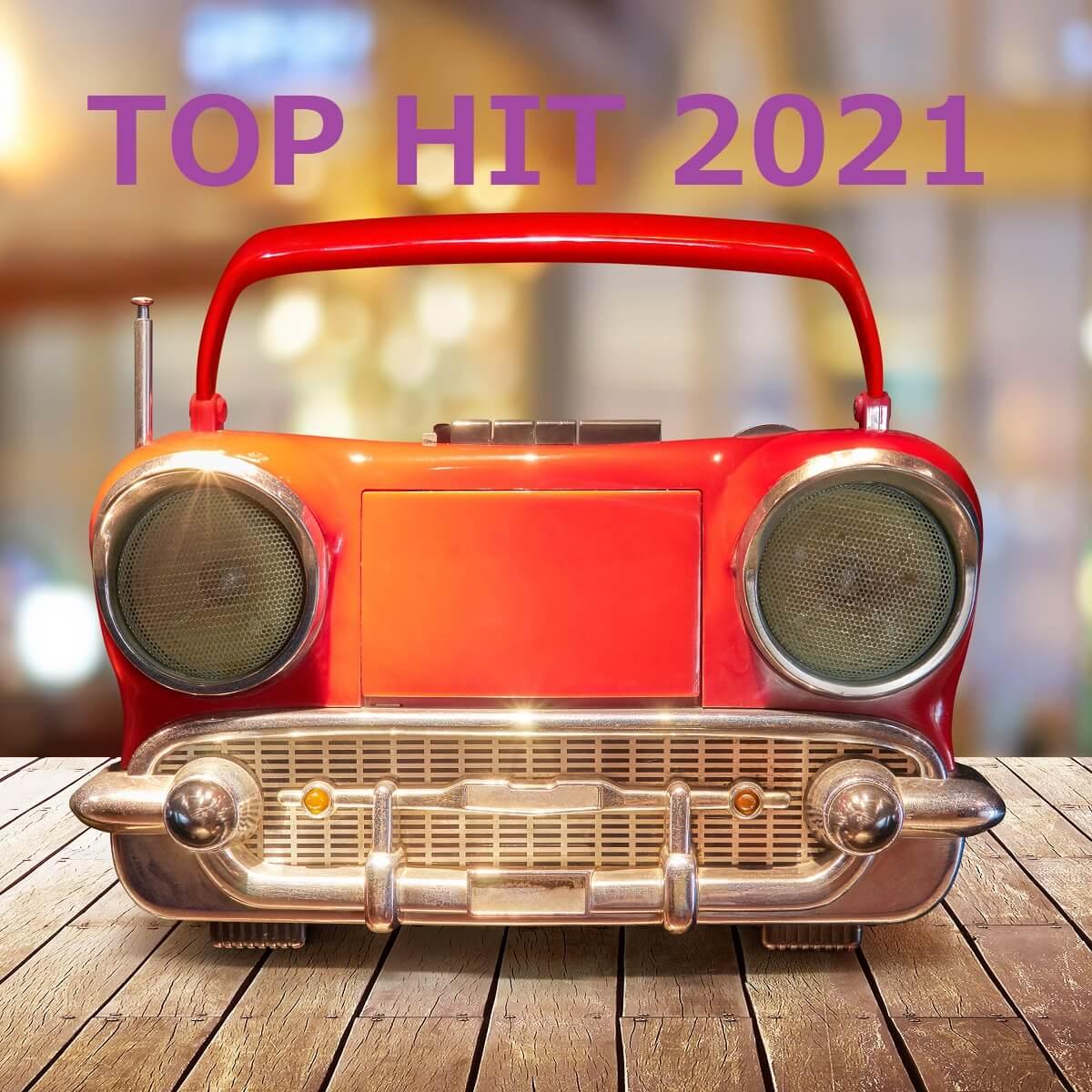 2021年の音楽のランキングを表したラジカセの写真。
