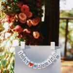 「結婚しました」というカード。