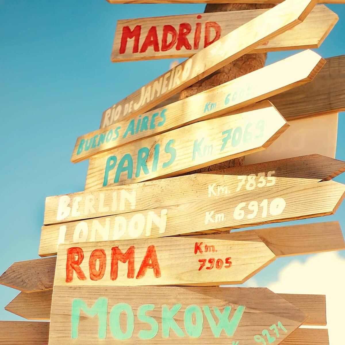 ローマへの標識。