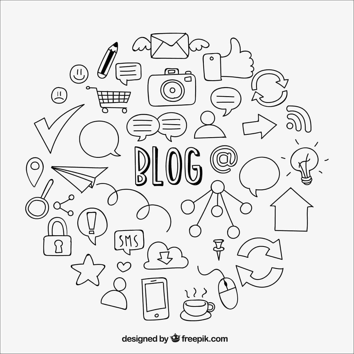 ブログのイラスト。